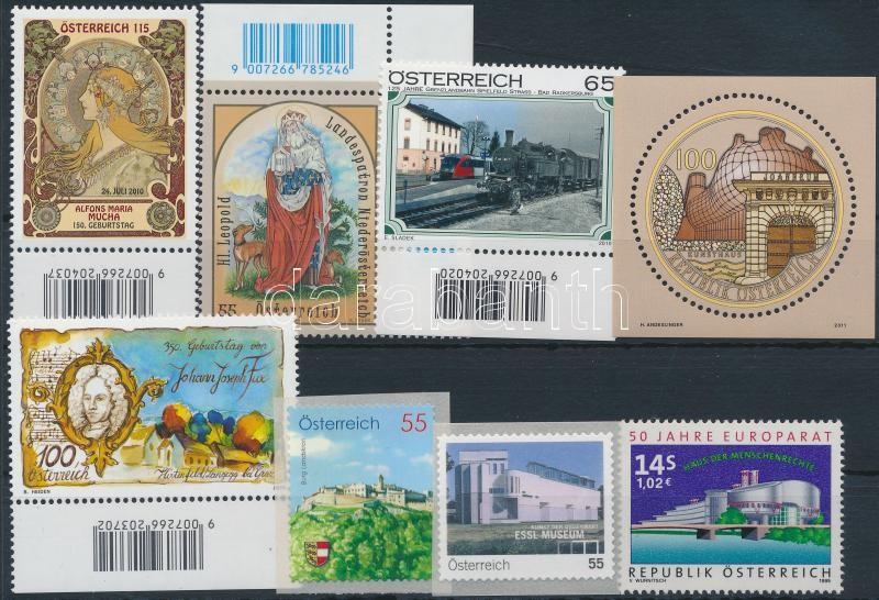 1999-2011 8 stamps + 2 block, 1999-2011 8 klf bélyeg + 2 db blokk