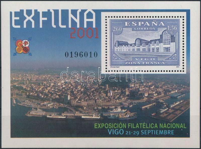 EXFILNA'01 Stamp Exhibition block, EXFILNA'01 Bélyegkiállítás blokk