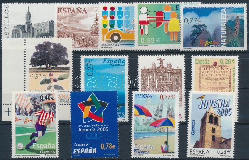 2002-2005 13 stamps, 2002-2005 13 db bélyeg