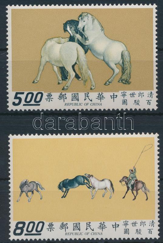 Horses set with stripe of 5, 100 ló sor ötöscsíkkal