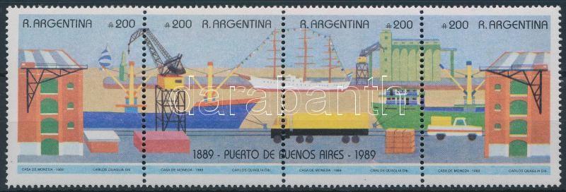Buenos Aires Harbour block, 100 éves a buenos airesi kikötő négyescsík
