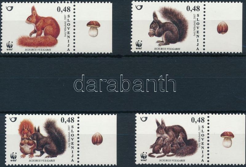 WWF: Európai vörös mókus sor, WWF: European red squirrel set