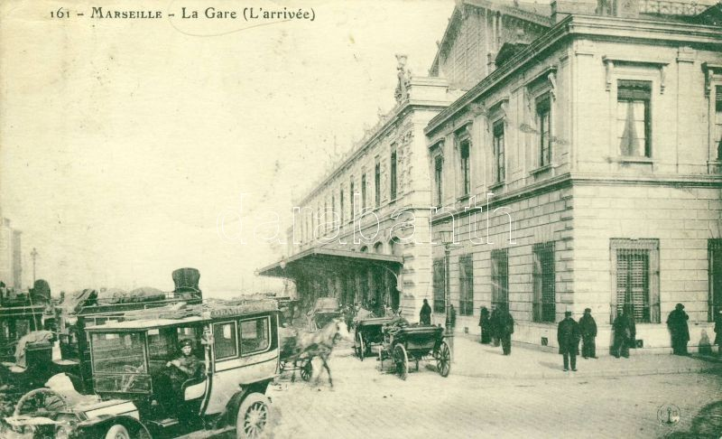 Marseille, Gare / Railway station, Grand Hotel automobile