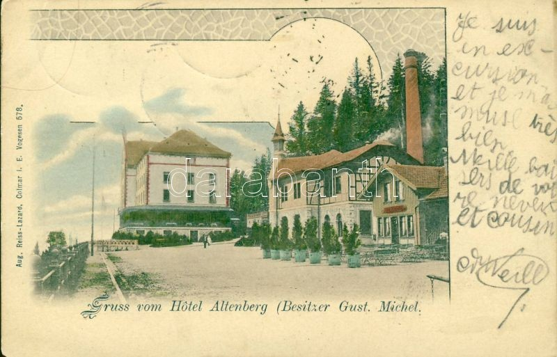 Altenberg, Hotel and Restaurant Gust. Michel, Art Nouveau