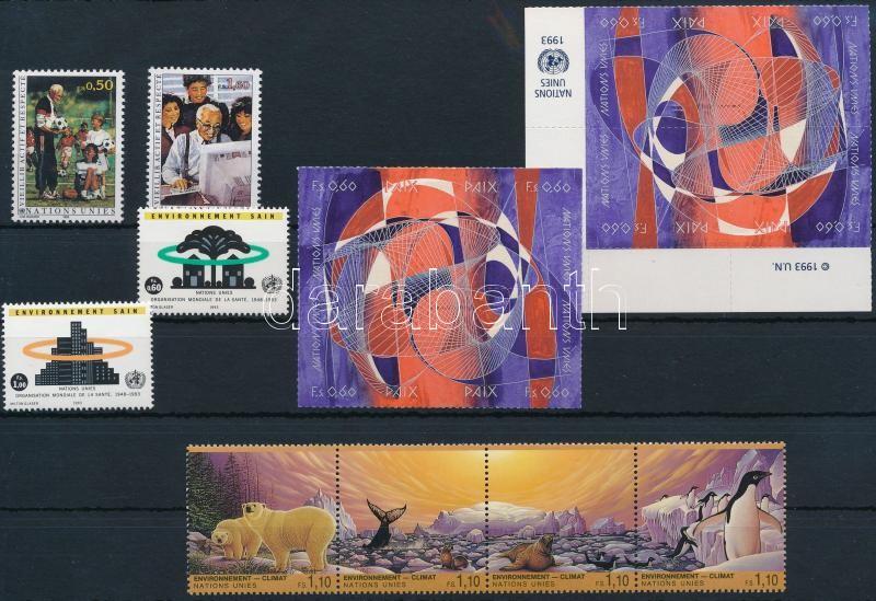 16 stamps with sets and blocks of 4, 16 db bélyeg, közte sorok és négyestömbök