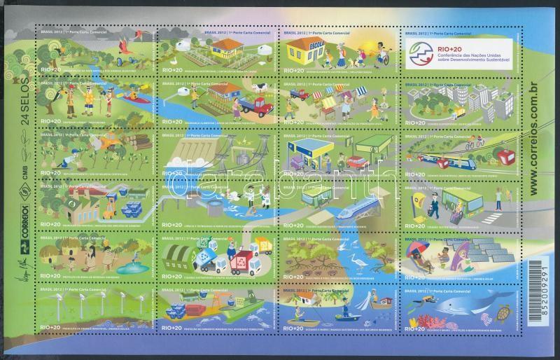 UN conference mini sheet, ENSZ konferencia kisív