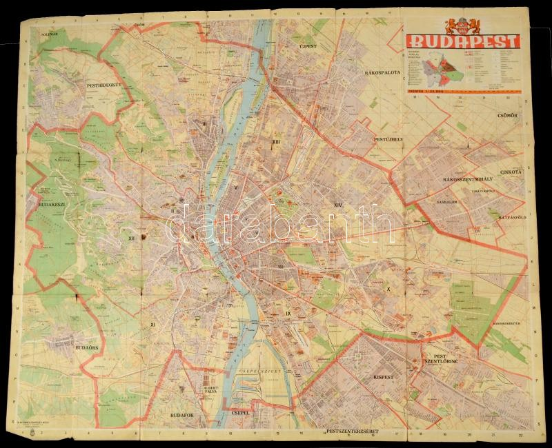 google earth budapest térkép cca 1943 Budapest térkép 80x80 cm | Darabanth Auctions Co., Ltd. google earth budapest térkép
