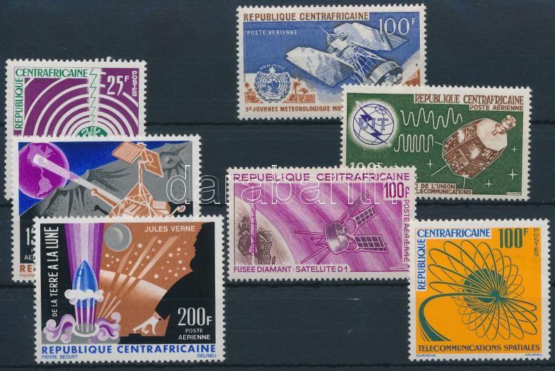1963-1966  Space research set + 5 diff stamps, 1963-1966 Űrkutatás 1 sor + 5 klf önálló érték