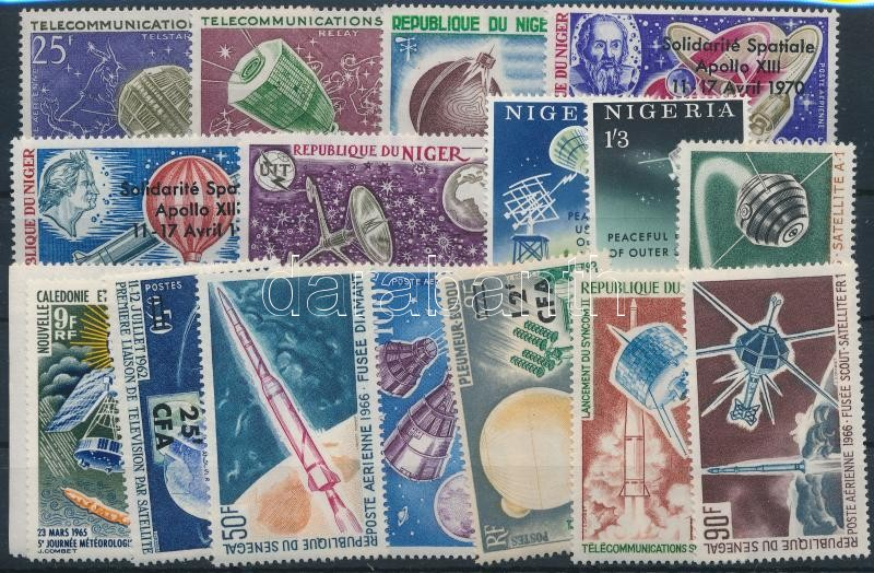 Space Research 1964-1971 5 sets + 5 stamps, Űrkutatás motívum 1964-1971 5 klf sor + 5 klf önálló érték