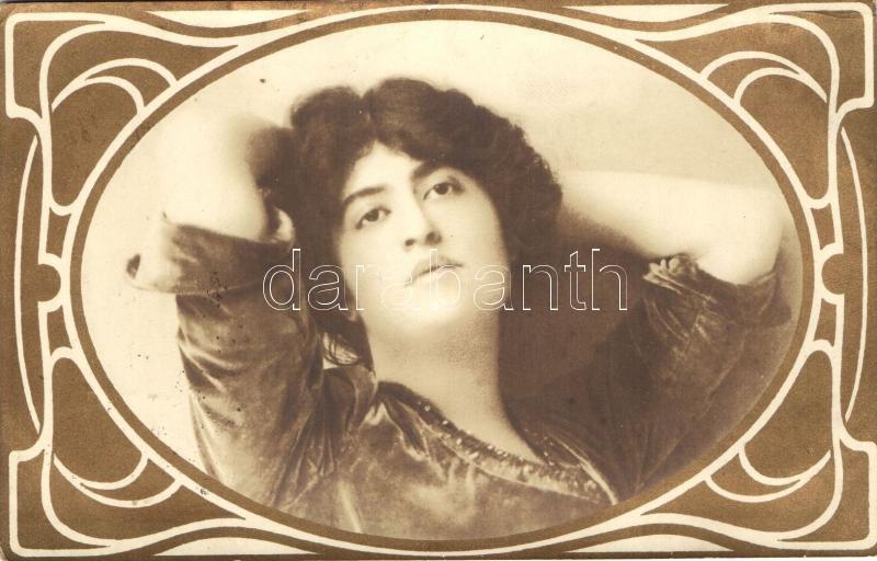 Lady with golden art nouveau frame, Nő arany szecessziós keretben