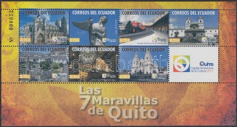 Seven Wonders of Quito mini sheet, Quito hét csodája kisív