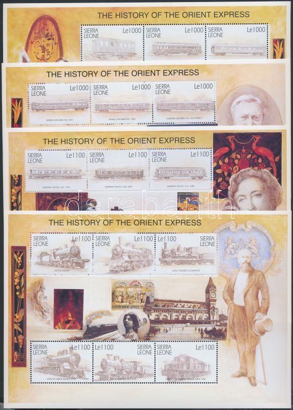 The Orient-Express Story mini sheet set + blockset, Az Orient-expressz története kisívsor + blokksor