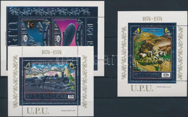UPU centenary aluminum foil block set, 100 éves az UPU alumínium fóliás blokksor