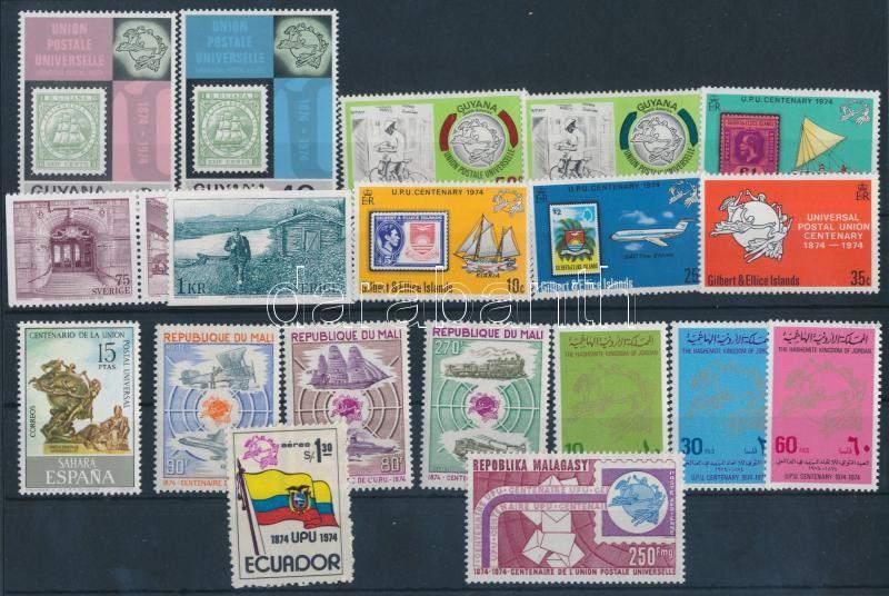 100 éves az UPU 31 db bélyeg + 1 db blokk, Centenary of UPU 31 stamps + 1 block