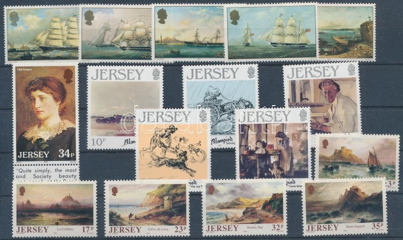 1985-1989 16 stamps with sets, 1985-1989 16 db bélyeg, közte sorok