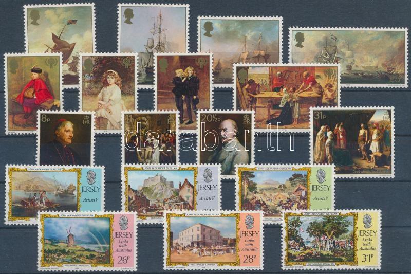 1974-1984 18 stamps with sets, 1974-1984 18 db bélyeg, közte sorok