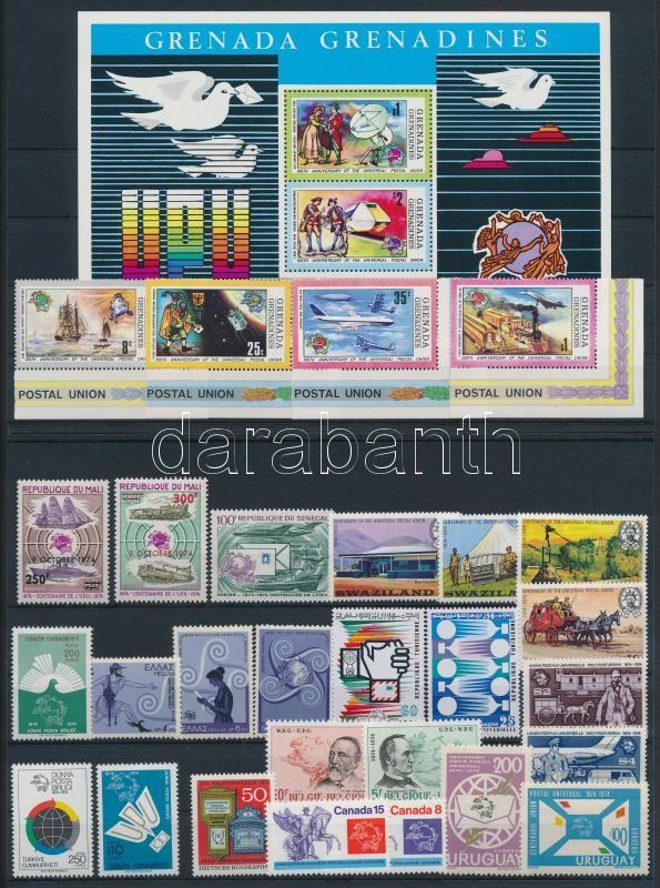 Centenary of UPU 28 stamps + 1 block, 100 éves az UPU 28 db bélyeg + 1 db blokk