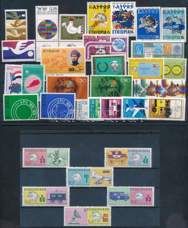 Centenary of UPU 33 stamps, 100 éves az UPU 33 klf bélyeg