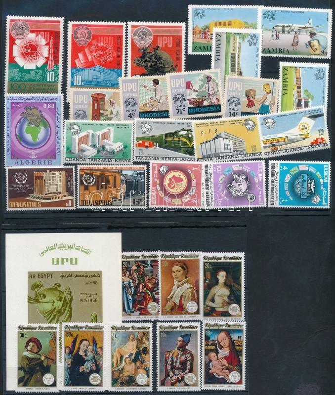 Centenary of UPU 29 stamps + 1 block, 100 éves az UPU 29 klf bélyeg + 1 blokk