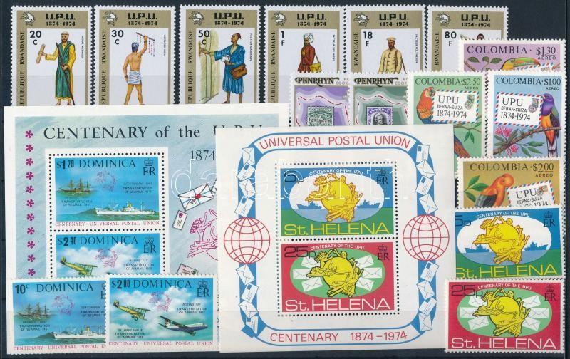 Centenary of UPU 16 stamps + 2 blocks, 100 éves az UPU 16 klf bélyeg + 2 klf blokk