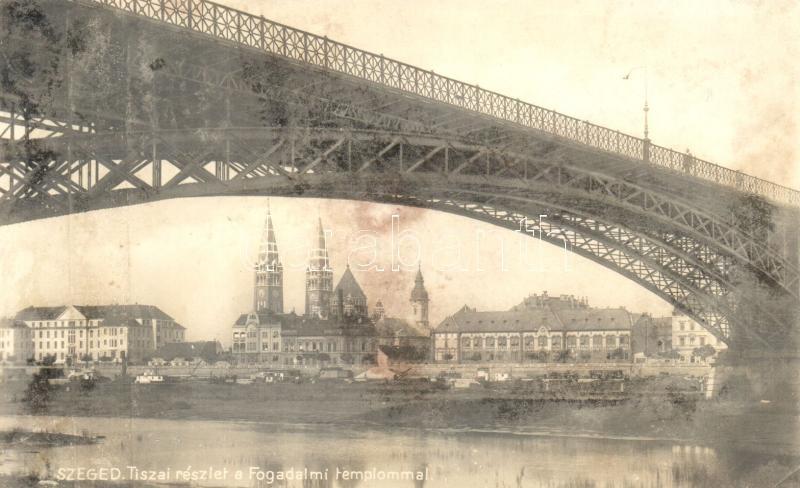 Szeged, Tisza, Fogadalmi templom, '1936 Szegedi Szabadtéri Játékok' (vágott / cut)