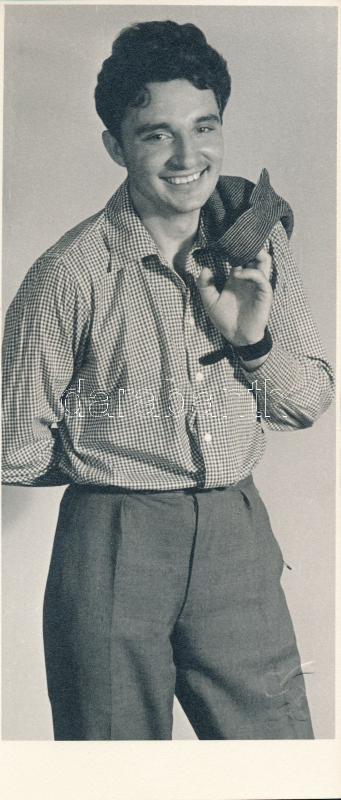 cca 1965 Kaczur Pál (1918-2000): Barátom, pecséttel jelzett vintage fotóművészeti alkotás a szerző hagyatékából, 19x8 cm