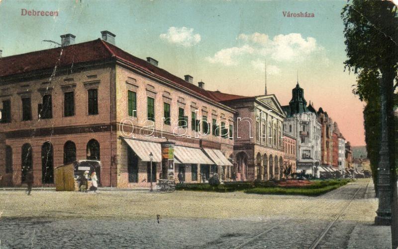 Debrecen, Városháza, Molnár Ferenc és Kontsek Kornél üzlete
