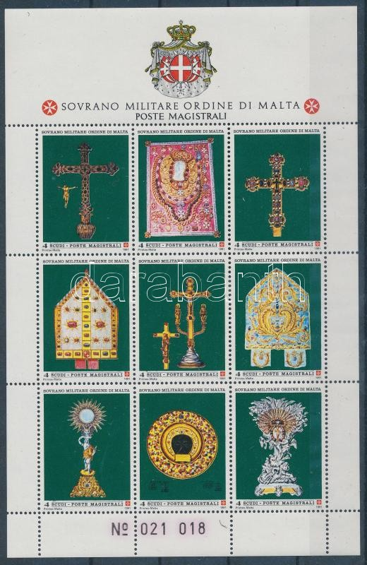 Egyházi jelképek kisív, Religious symbols mini sheet
