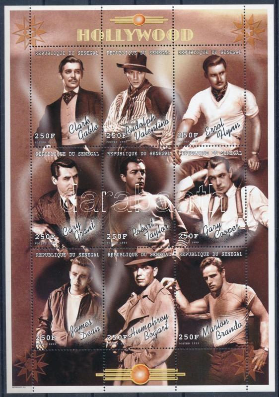 Hollywood actors mini sheet, Hollywoodi filmszínészek kisív
