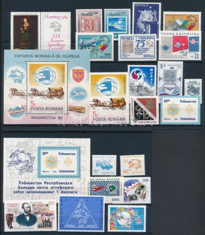 UPU 1984-1998 21 stamps + 2 blocks, UPU 1984-1998 21 klf bélyeg + 2 klf blokk