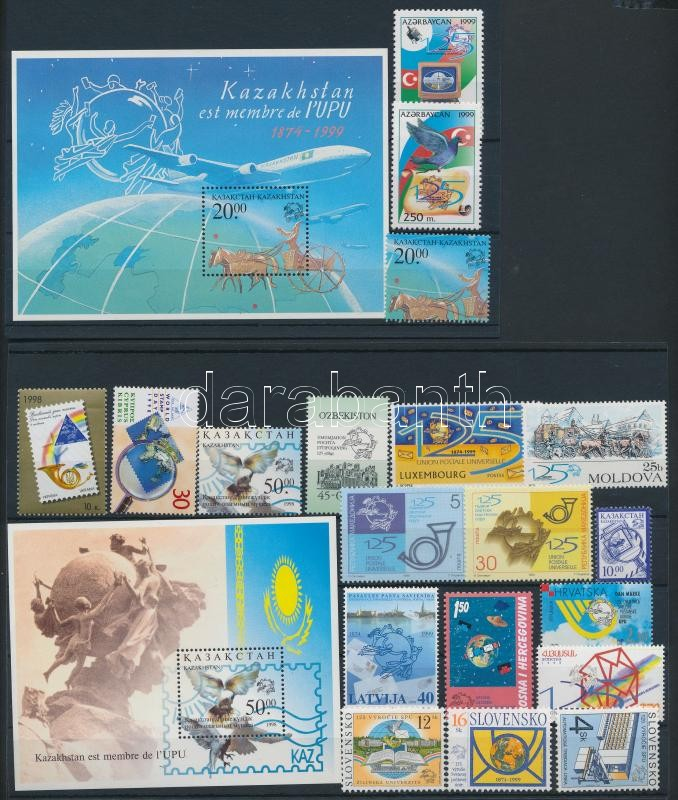 UPU 1998-1999 19 stamps + 2 blocks, UPU 1998-1999 19 klf bélyeg + 2 klf blokk