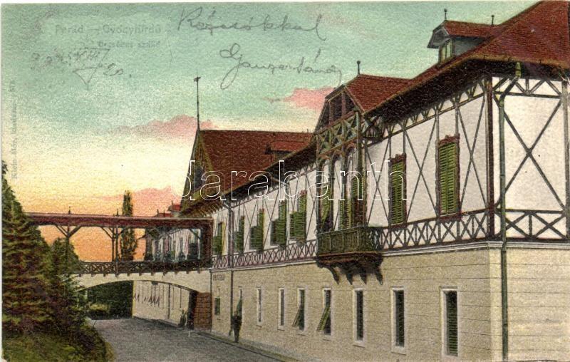 Parád-gyógyfürdő, Erzsébet szálló (vágott / cut)