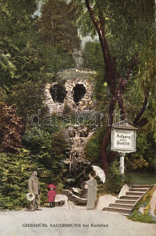Kyselka, Giesshübl-Sauerbrunn; Quelle / spring