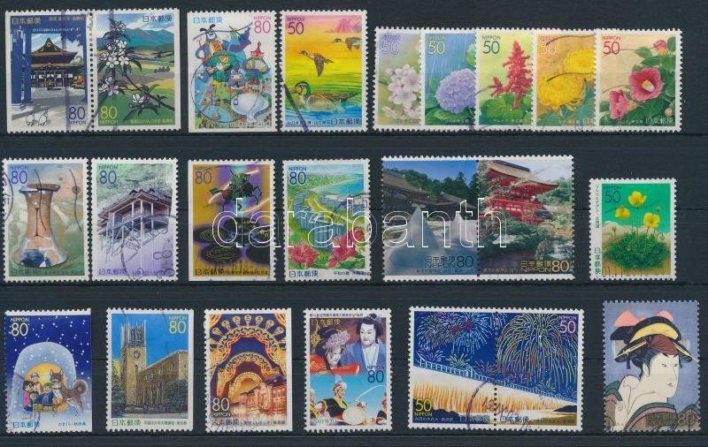 23 stamps, 23 klf bélyeg, közte sorok és összefüggések