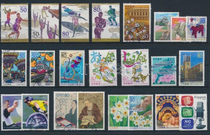 23 stamps, 23 db bélyeg, közte 4 db sor