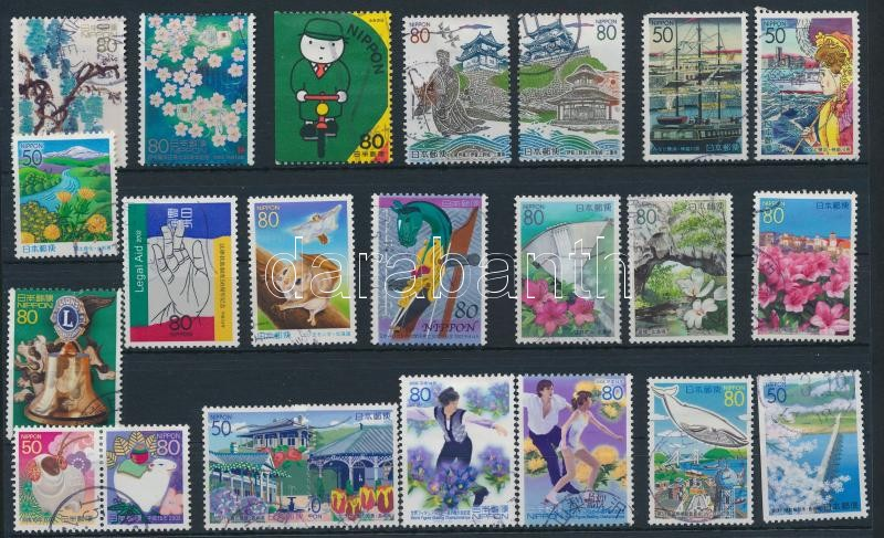 23 stamps, 23 db bélyeg, közte 6 db sor
