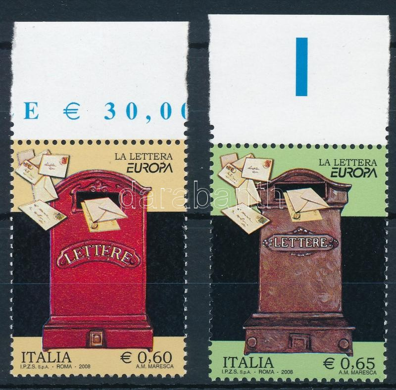 Europa CEPT: letter margin set, Europa CEPT: Levél ívszéli sor