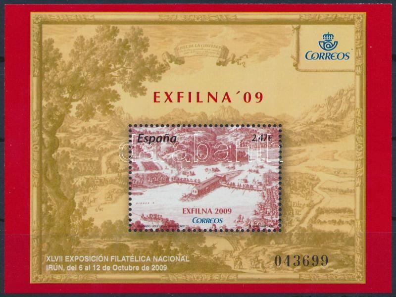 Stamp Exhibition EXFILNA block, Bélyegkiállítás blokk