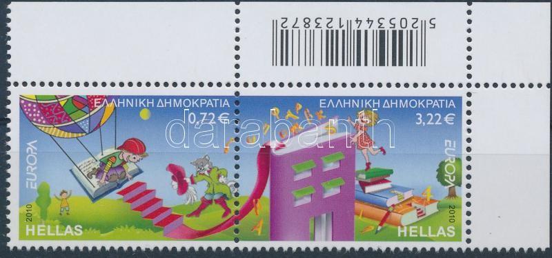 Europa CEPT: Gyermek könyv ívsarki pár, Europa CEPT: Children's books corner pair