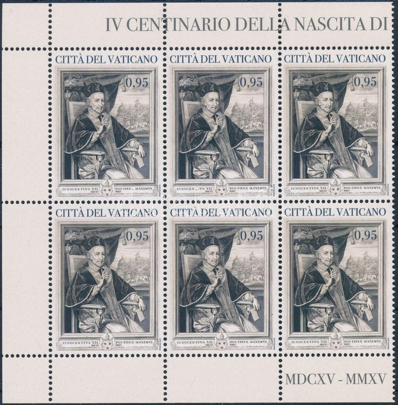 Pope Innocent XII. corner block of 6, XII. Ince pápa ívsarki 6-os tömb