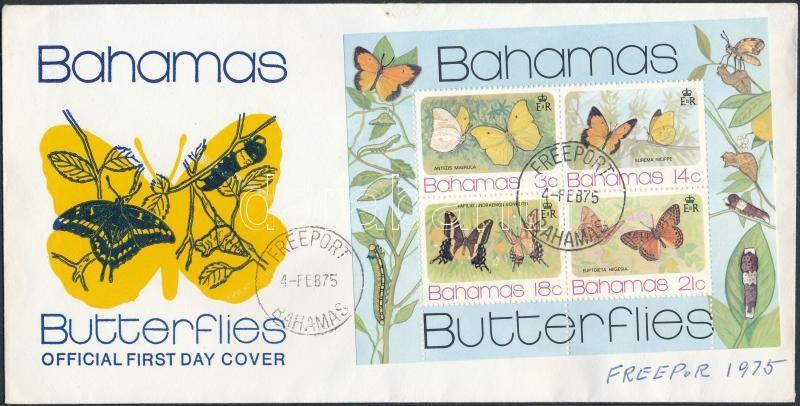 Butterfly block FDC, Lepkék blokk FDC-n