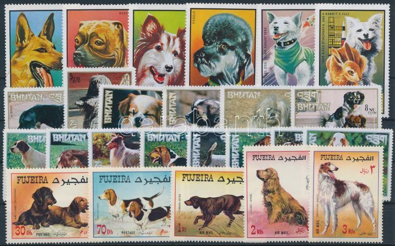 Dogs ~1967-1973 4 sets, Kutya motívum ~1967-1973 4 klf sor