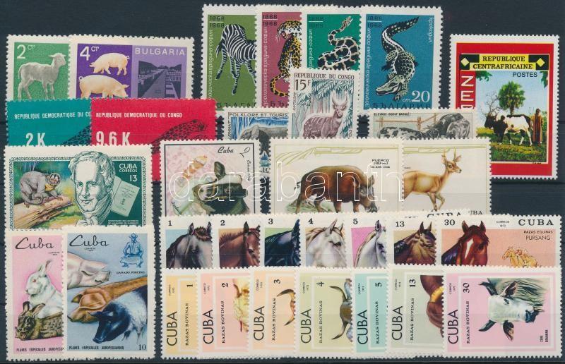 Animals ~1967-1973 32 stamps, Állat motívum ~1967-1973 32 klf bélyeg, közte sorok