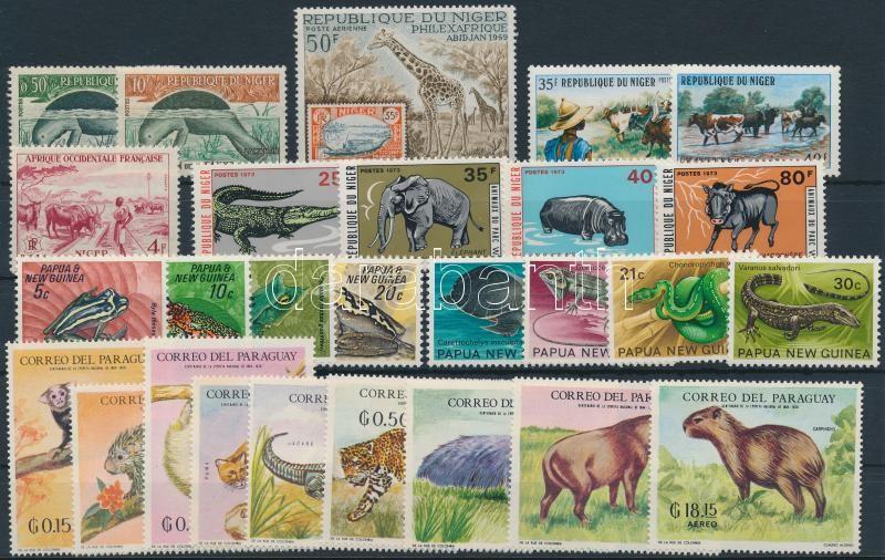 Animals 1967-1973 27 stamps, Állat motívum ~1967-1973 27 klf bélyeg, közte sorok