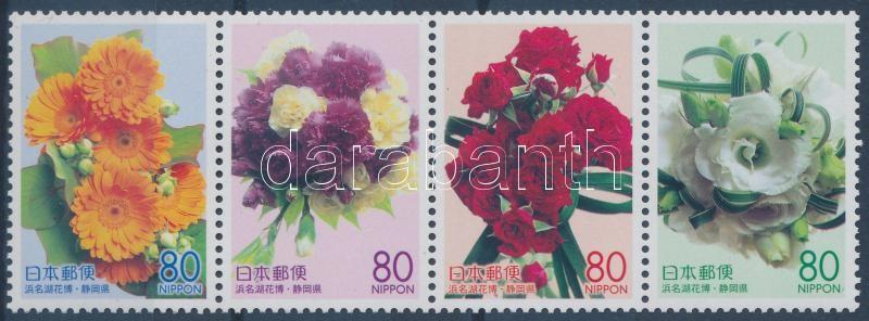 Shizuoka prefektúra: Virágok négyescsík, Shizuoka Prefecture: Flowers stripe of 4