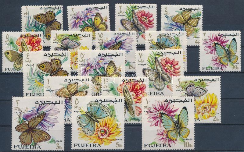 Definitive: Butterflies 18 stamps, Forgalmi: Lepkék 18 érték