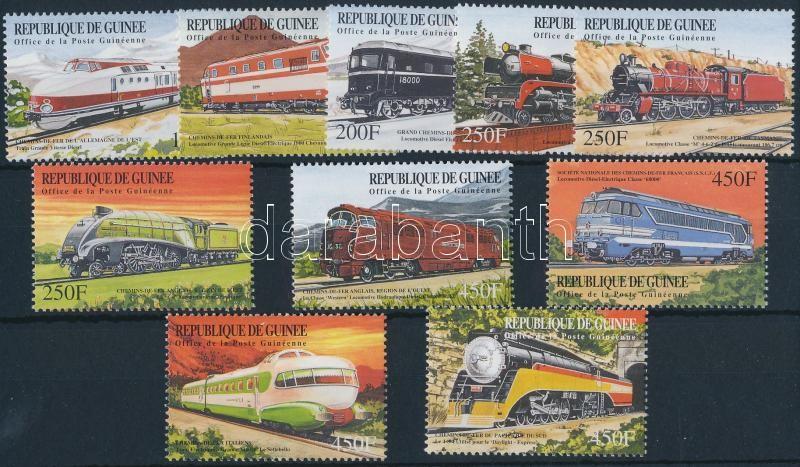 Locomotives set + mini sheet set + blockset, Mozdonyok a világ minden tájáról sor + kisívsor + blokksor