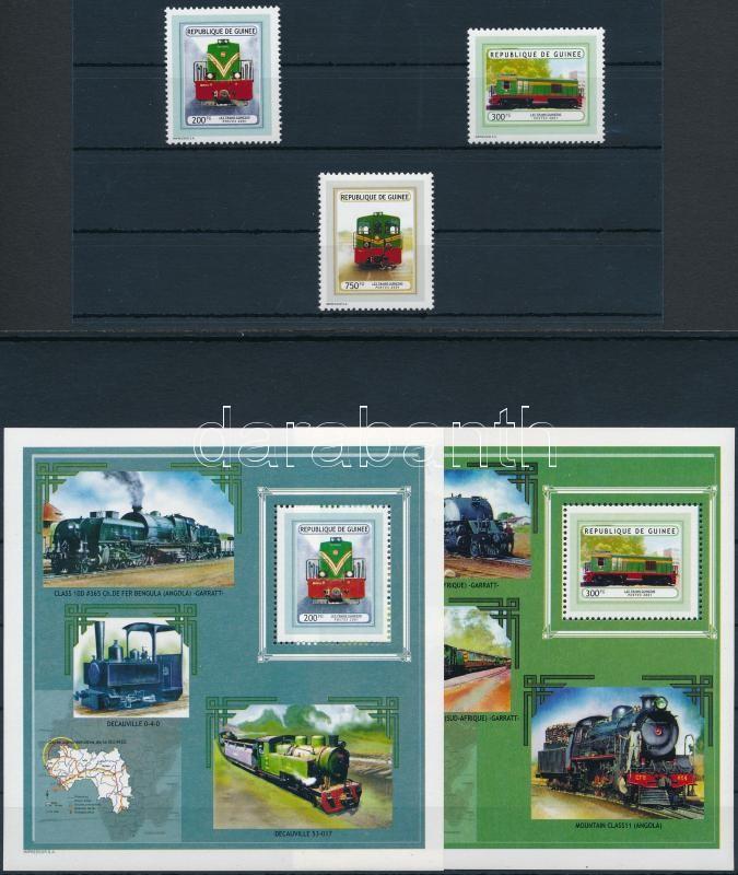 Locomotives set + block pair, Mozdonyok sor + blokkpár