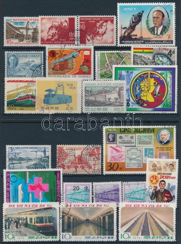 Transport 1941-1992 23 stamps + 4 mini sheets, Járművek motívum 1941-1992 23 klf bélyeg + 4 kisív