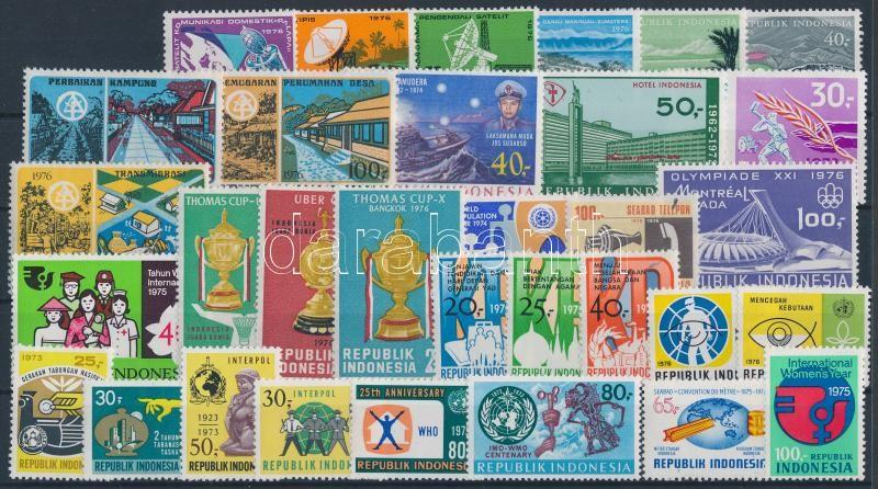1973-1976 32 klf bélyeg, közte sorok, 1973-1976 32 diff stamps with sets
